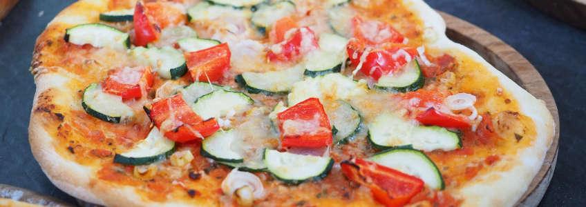 recceta de pizza de coliflor